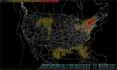 GSD News - Us air traffic map