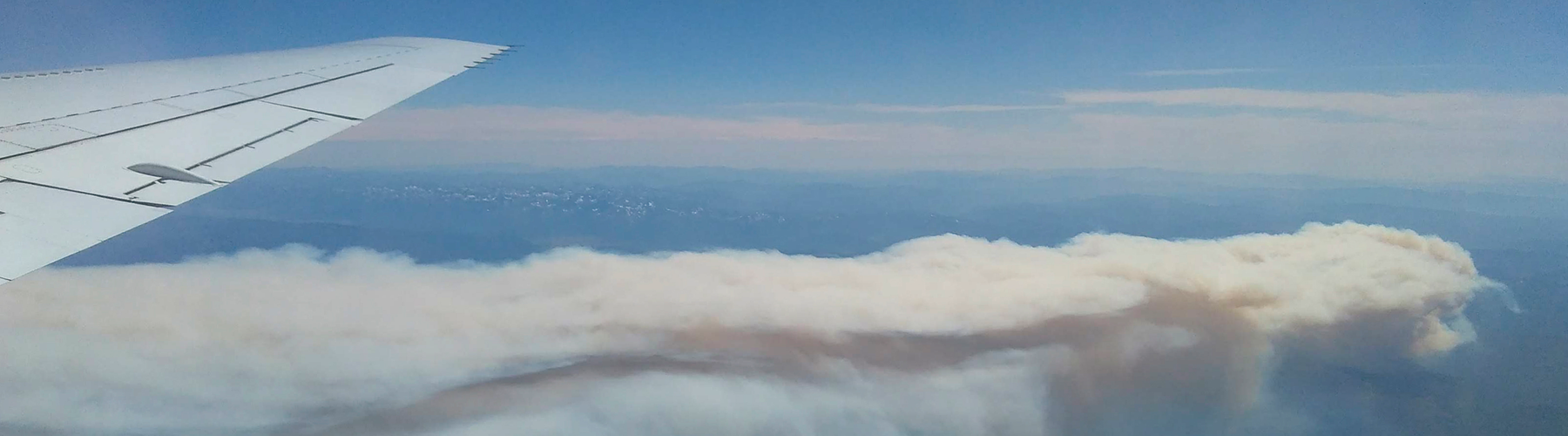 Shady Fire smoke plume during NASA DC-8 research flight 25 July 2019