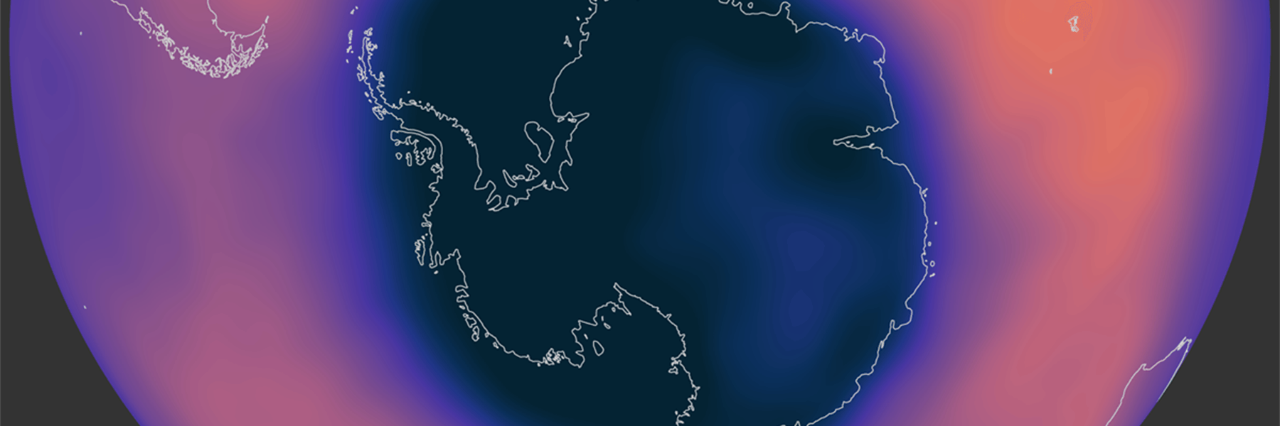 Ozone concentration over Antarctica the week of September 14–20, 2020.